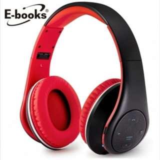 (預購)E-books S12 藍芽無線摺疊耳機麥克風