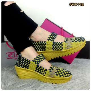 BESTSELLER IN STORE NEW DESIGN Sepatu Fashion Wanita Murah Wedges Shoes ORIGINAL BRAND #CH7768