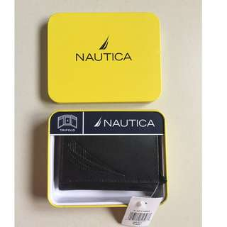 NEXT DAY SHIP Original Nautica Tri-Fold Men's Wallet