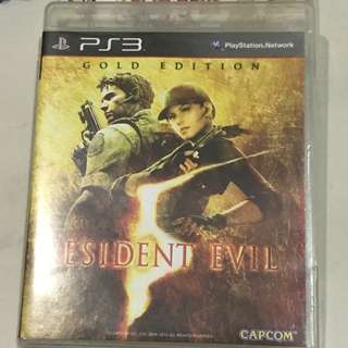 PS3 Gold Edition Resident Evil 5 Playstation 3