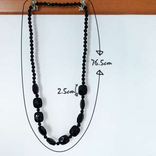 black necklace 黑色 頸鏈