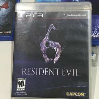 PS3 Resident Evil 6 Playstation 3