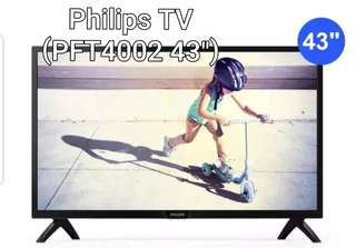 "GSS SALES PHILIPS TV PFT4002 43"" BRAND NEW"