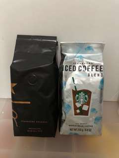 Starbucks iced coffee blend whole bean coffee 250g