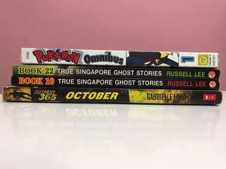 🚚 Clearing Books- Ghost Stories and Pokémon