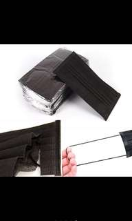 🚚 Black Disposable Dust Face Masks 😷