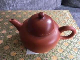 民国潮州朱泥工夫茶壶.