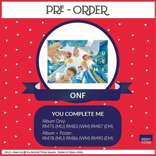 (PRE-ORDER) ONF - YOU COMPLETE ME