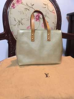 Authentic LV vernis cream handbag