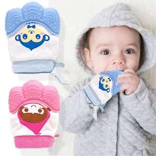 BABY TEETHING MITTENS