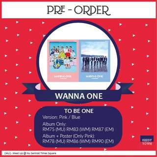 (LIMITED TIME) PRE-ORDER FOR WANNA ONE - TO BE ONE