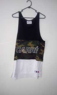 Carre Black White And Camo Singlet