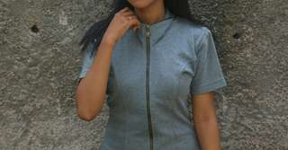 Grey Blouse with Padding