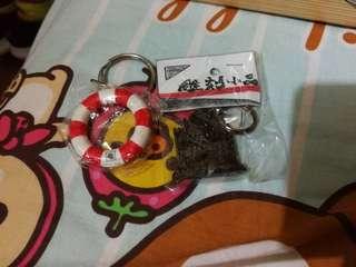 Macau 後門手信紀念品海事博物館水泡大三巴雕刻鎖匙扣 key chain