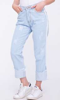 Light Blue Roll Up Jeans by 8wood
