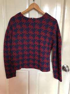 Maroon / Blue Sweater