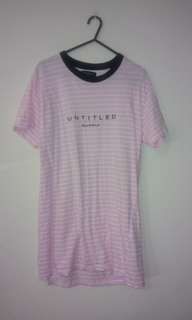 Cotton On Pink and White Stripey Tshirt