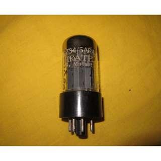 mullard gz34 fat base f31 strong single tubes, guitar, hifi, preamp, speaker, amplifer, cd player, dac, turntable, headphone, audiophile