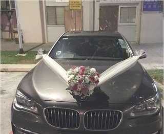 Wedding Car Decoration with Fresh Flowers