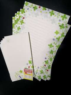 Lucky Four Leave Clover Letter Set