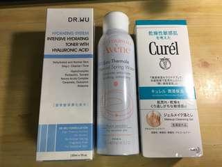 🚚 Dr.wu保濕化妝水/雅漾化妝水/珂潤卸妝凝露