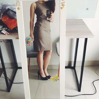 Executive body fit office dress