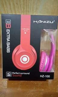 🚚 Hanizu 耳罩式耳機(粉紅色)