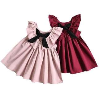 Baby/gril dress with bow