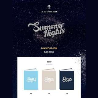 [Preorder] Twice 2nd Special Album- Summer Nights