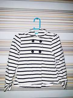 Old Navy Striped Cotton Coat (for Kids)