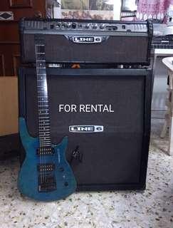 For Rental line 6 amp and head with 4 x 12 speaker
