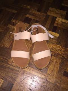 Nude light pink sandals like renegade folk flow peach
