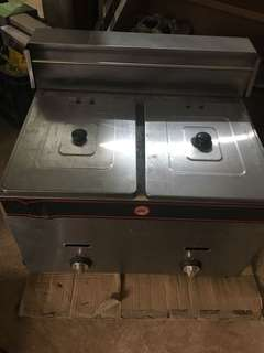 Double Deep Fryer Gas Type