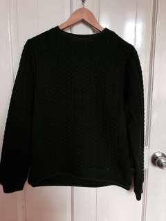 Zara Black Sweater with Shoulder Zip