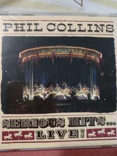 Pop/Rock CD - Rare Japan Press Phil Collins Serious Hits... Live!
