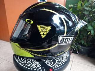 AGV K3 GOTHIC HELMET BLACK AND YELLOW (RARE ITEM)