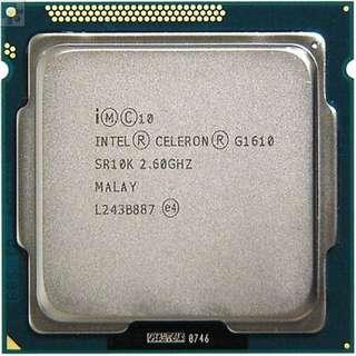 🚚 Intel Celeron G1610 雙核CPU / 1155腳位 / 2.6G / 2M 快取、內建顯示(散裝良品)
