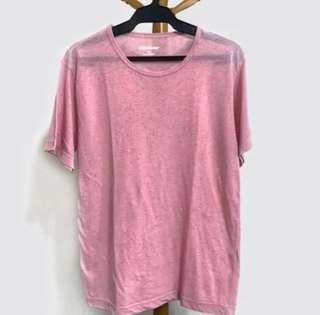Baleno Textured Fabric Pink Tshirt