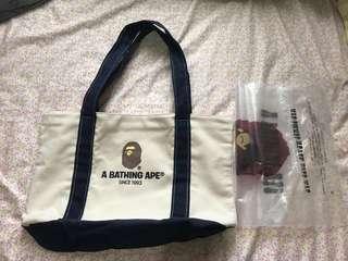 日本雜誌 的Bape 袋(未用過)约 H20cm×W31 xD8cm