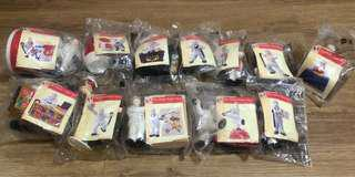 The complete set of KFC The Chicken Expert Story figurines