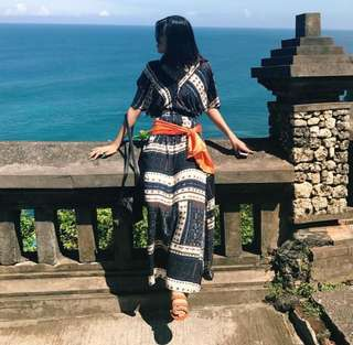 Boho Blue  Beach Maxi / Long Dress