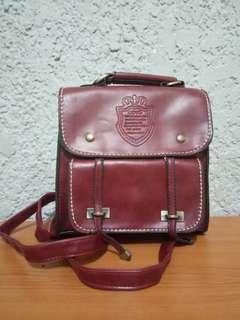 Handbag/Sling Bag/Backpack leather