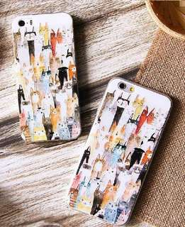 Apple iphone 6/6s、6/6s plus、5/5s 卡通浮雕 超薄透明邊 彩繪工藝 手機軟殼 特價$80