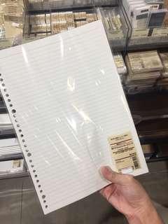 Muji A4 Loose Leaf Paper