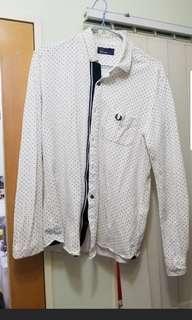 Fred Perry 白色波點恤衫 (日版)