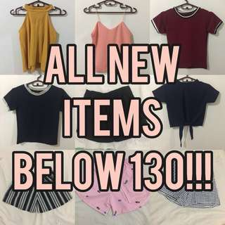 ALL NEW ITEMS ARE BELOW 130 PESOS