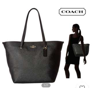 Coach crossgrain leather bag 返工手袋