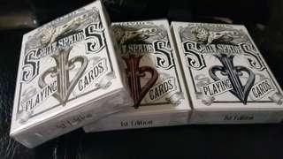 Split spades deck美国原装正品大卫布莱恩老厂收藏狮皇仅拆扑克3副共