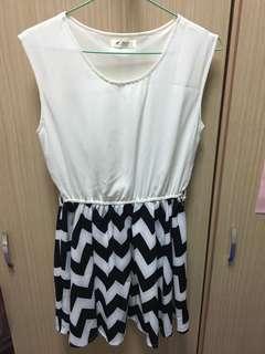 🚚 韓版幾何連身小洋裝