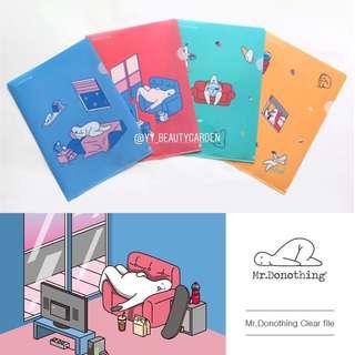 Mr. Donothing Clear File 來自韓國的懶洋洋先生 文件夾 folder 韓國精品文具